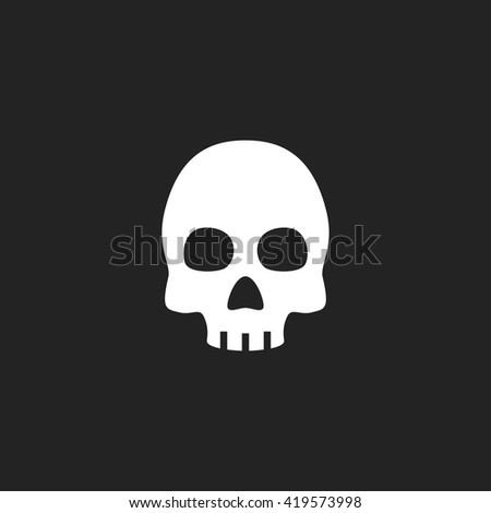 skull icon fill white on black
