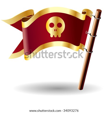 skull icon on red and gold