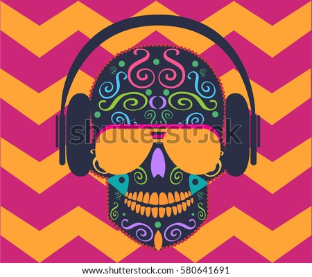 skull icon vector with