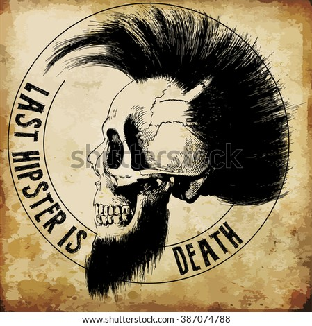 skull illustration   a mark of