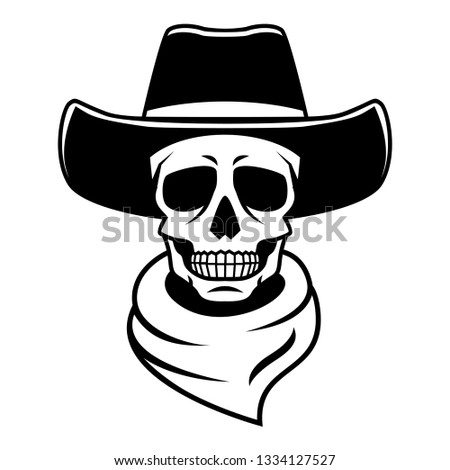 b8c07f60ab707 Spooky cowboy skull character with… Stock Photo 292206617 - Avopix.com