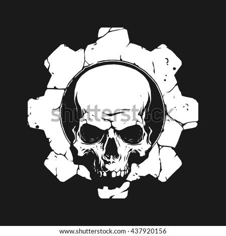 Skull in gear