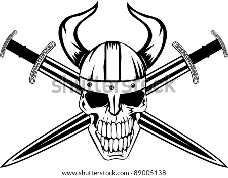Vector Images Illustrations And Cliparts Skull In Helmet Of Viking
