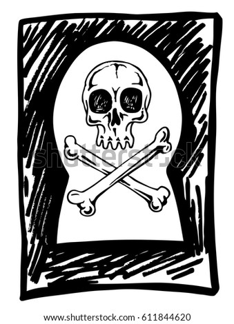 skull in the keyhole  the