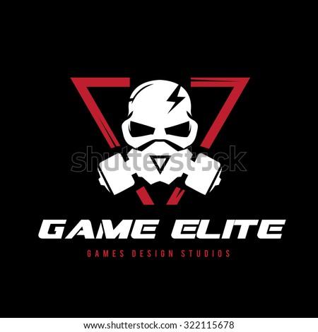 skull logo extreme sport logo
