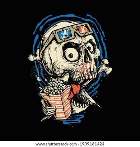 skull love movie horror graphic
