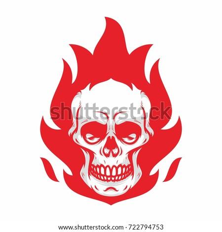 skull mascot biker road rider