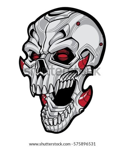 skull mecha robot