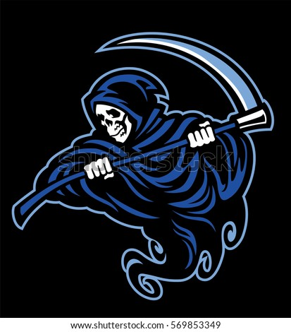 skull of grim reaper with the