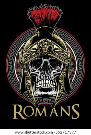 skull of roman warrior
