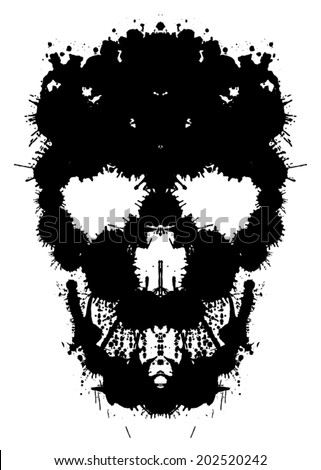 skull painted blots unusual