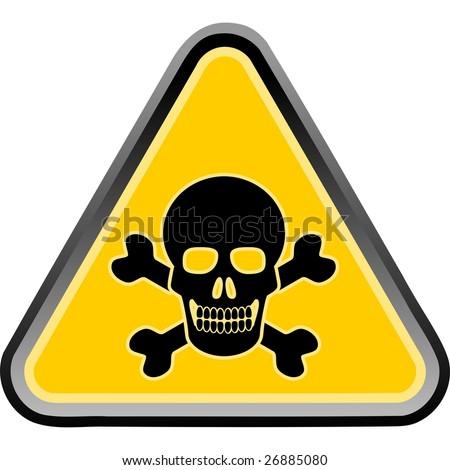 skull poison sign