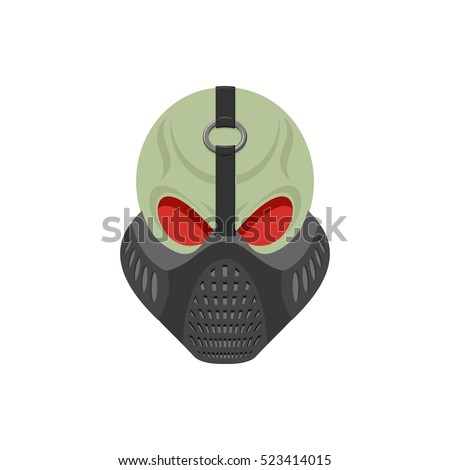 Stock Photo Skull protective mask. Hell defender. Terrible headache. skeleton head paintball helmet