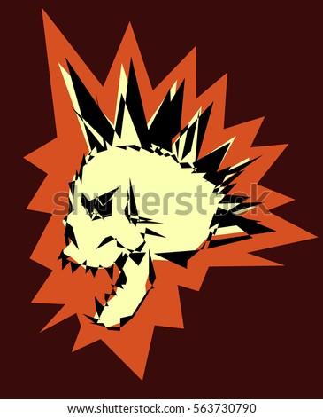 skull punk design
