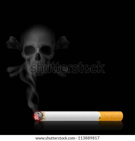skull shaped smoke comes out