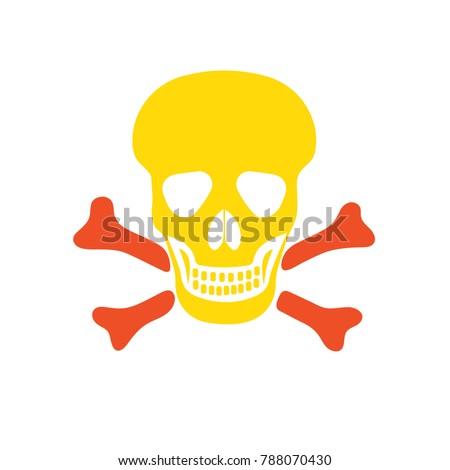 skull sign   attention danger ...