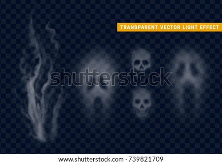 skull silhouette face of ghost