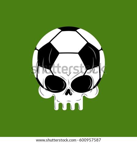 skull soccer ball football