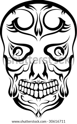 skulls tattoos. stock vector : Skull Tattoo