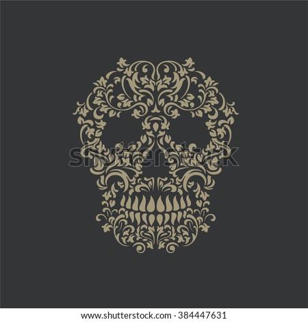 skull tattoo ornament