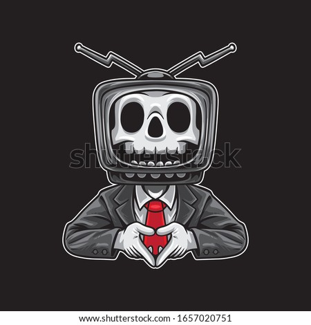 skull tv cartoon character