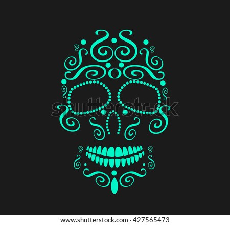 skull vector background for