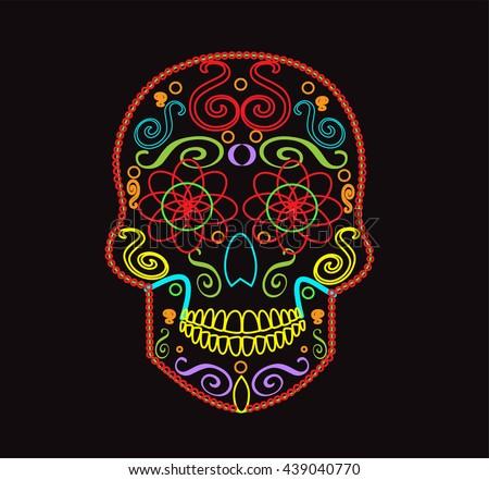 skull vector background for