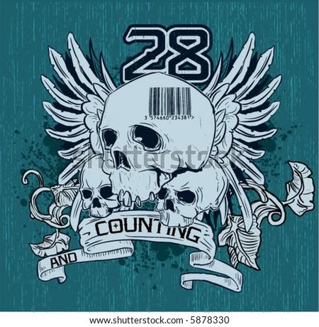 Skull vector emblem