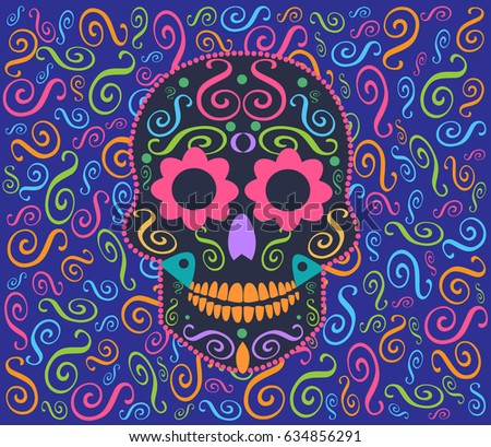 skull vector icon ornament with