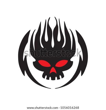 skull vector logo