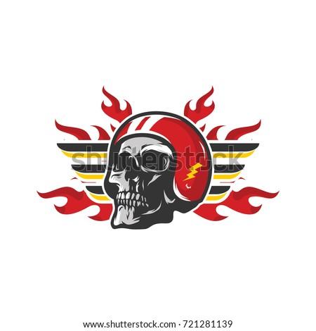 skull vector mascot