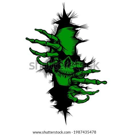 Skull wall silhouette,skull background,skull vector,skull tattoo idea, green skull,skull attack,skull breaking wall silhouette, angry skull tattoo, skull design,skull making hol,Mexico skull tattoo