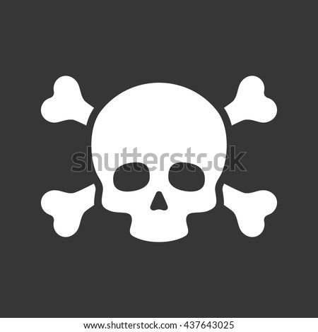 skull with crossbones icon on