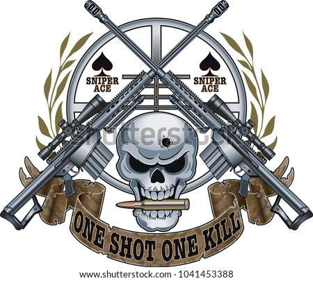 skull with crossed sniper