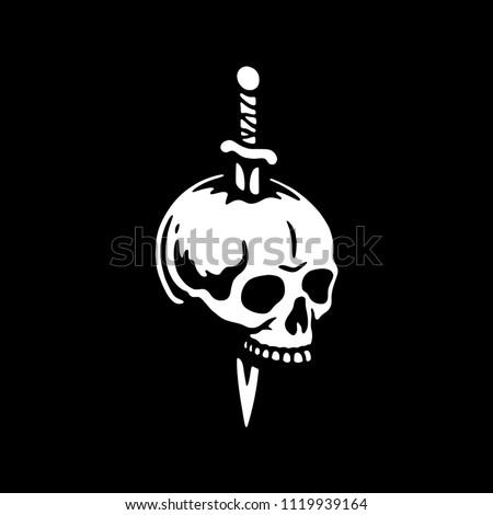 skull with dagger 2 logo