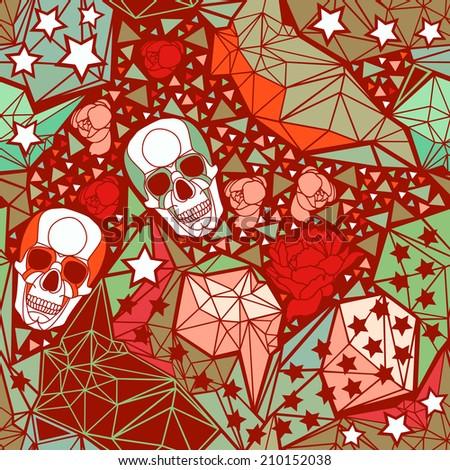 skull with geometric polygonal