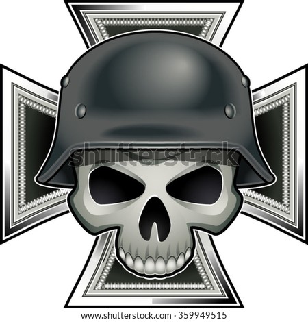 skull with german world war 2