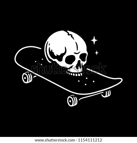skull with skateboard logo