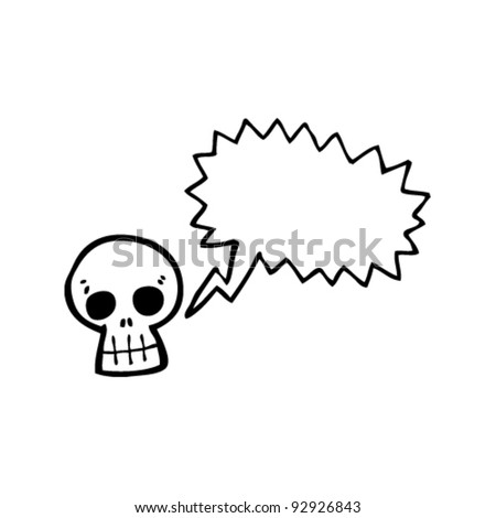 skull with speech bubble