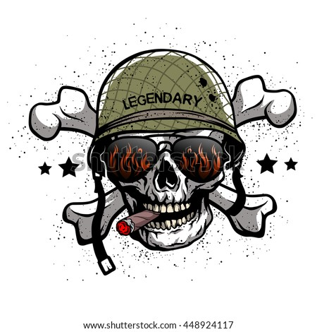 skull with sunglasses and a