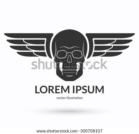 skull with wings logo  emblem