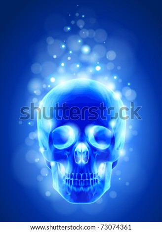 [Jeu] Association d'images - Page 12 Stock-vector-skull-x-ray-blue-background-lights-technology-vector-73074361