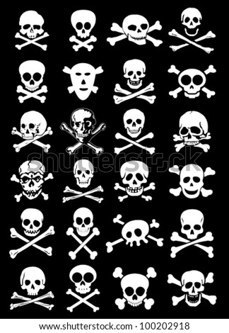 skulls   corssbones vector