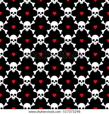 skulls seamless pattern