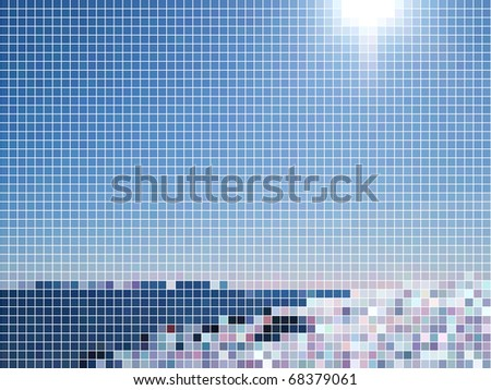 Sky. Abstract vector dots background