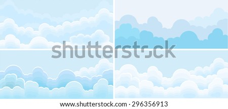 sky and cloud set