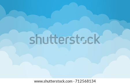 sky and cloudsisolated object