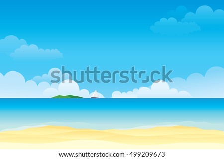 sky and sea vector illustration