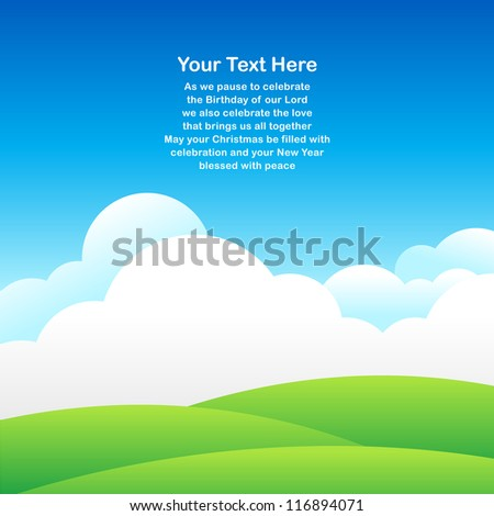 Sky background for greeting card in vector