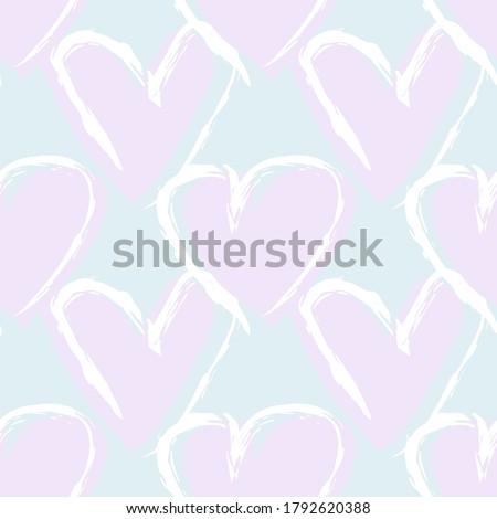 sky blue heart shaped brush